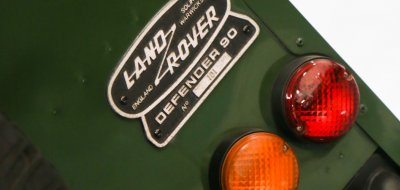Land Rover Defender 1997 taillights closeup