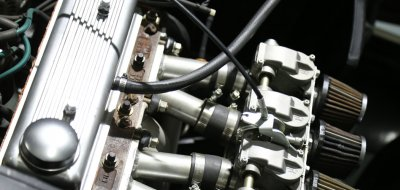 Triumph Herald 1965 engine closeup