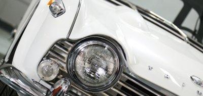 Triumph TR4 front closeup view