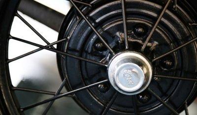 Ford Model A 1929 wheel closeup view