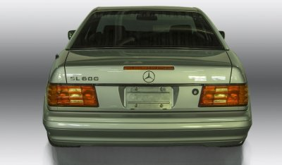 Mercedes Benz SL600 1998 rear view