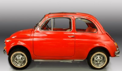 Fiat 500 1971 side view - driver's side