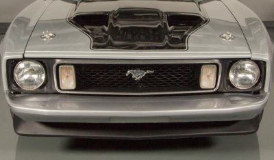 "Ford Mustang ""Boss"" 1973 front closeup view"