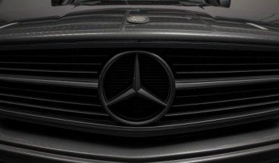 Mercedes emblem of the Mercedes Benz SEC560 AMG 1993