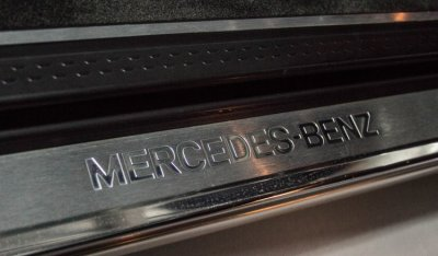 Benz engraved logo of the Mercedes Benz SL600 1998