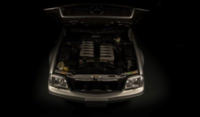 Mercedes Benz SL600 1998 Silver engine