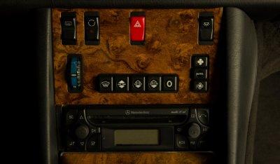 Mercedes Benz SEC560 AMG 1993 control buttons