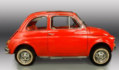 Fiat 500 1971 side view - passenger's side
