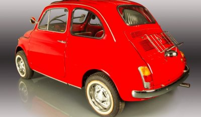 Fiat 500 1971 rear left view