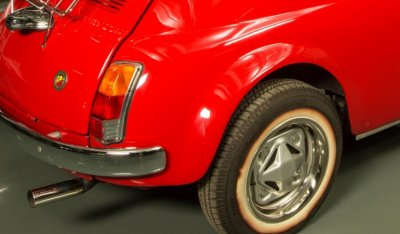 Fiat 500 1971 rear right closeup