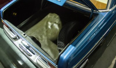 Trunk of the Mercedes Benz SEL300 1967