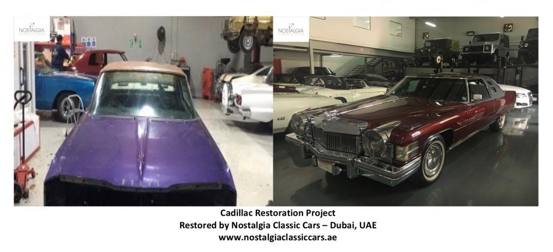 Cadillac Restoration - Nostalgia Classic Cars - Before & After
